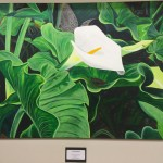 Floral painting in the Mexican consulate